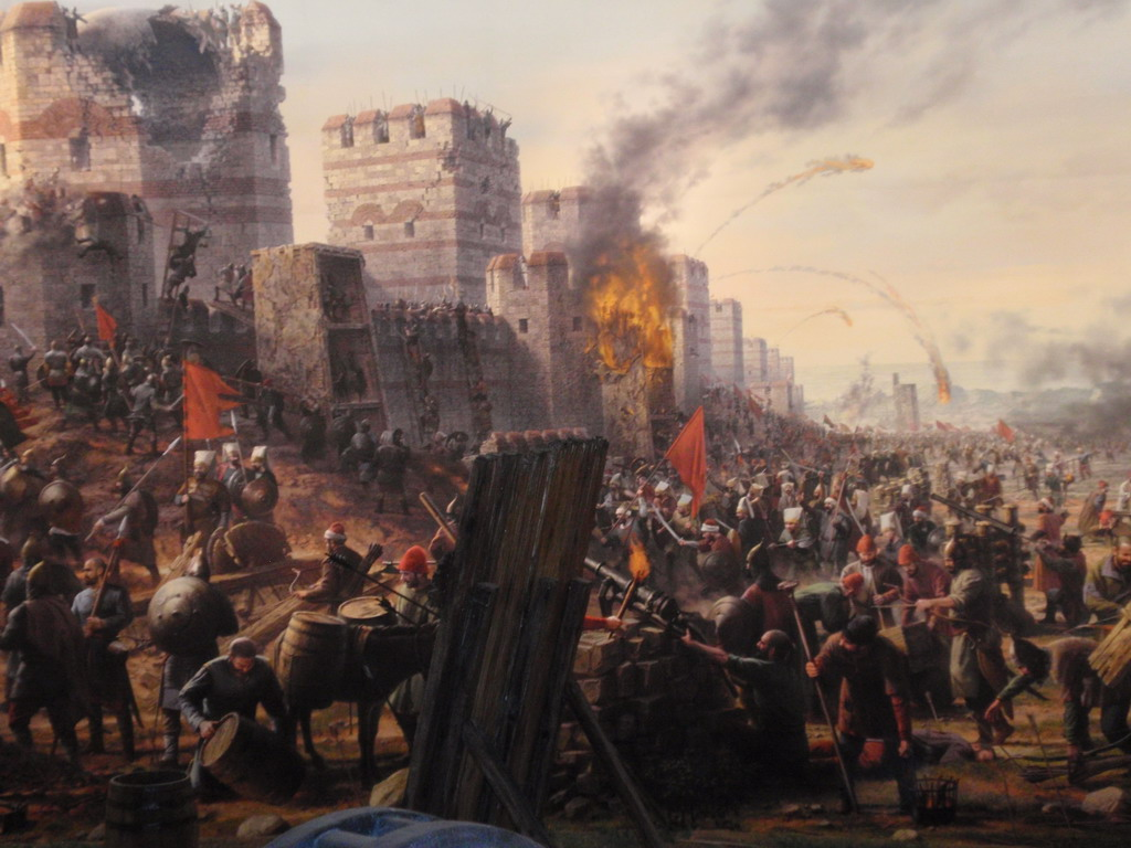 castle-attack, Siege of Constantinople | Byzantine Constaninople ...