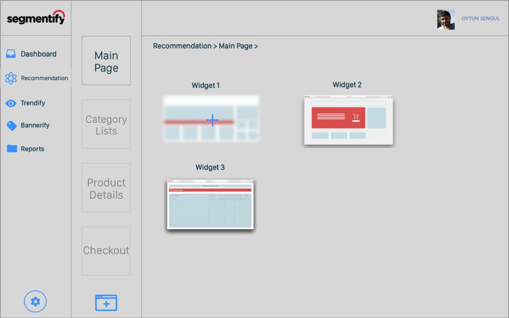 Widget Seçimi Wireframe